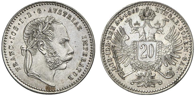 AT 20 Kreuzer 1868