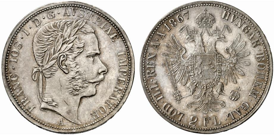 AT 2 Gulden / Doppelgulden 1870 A