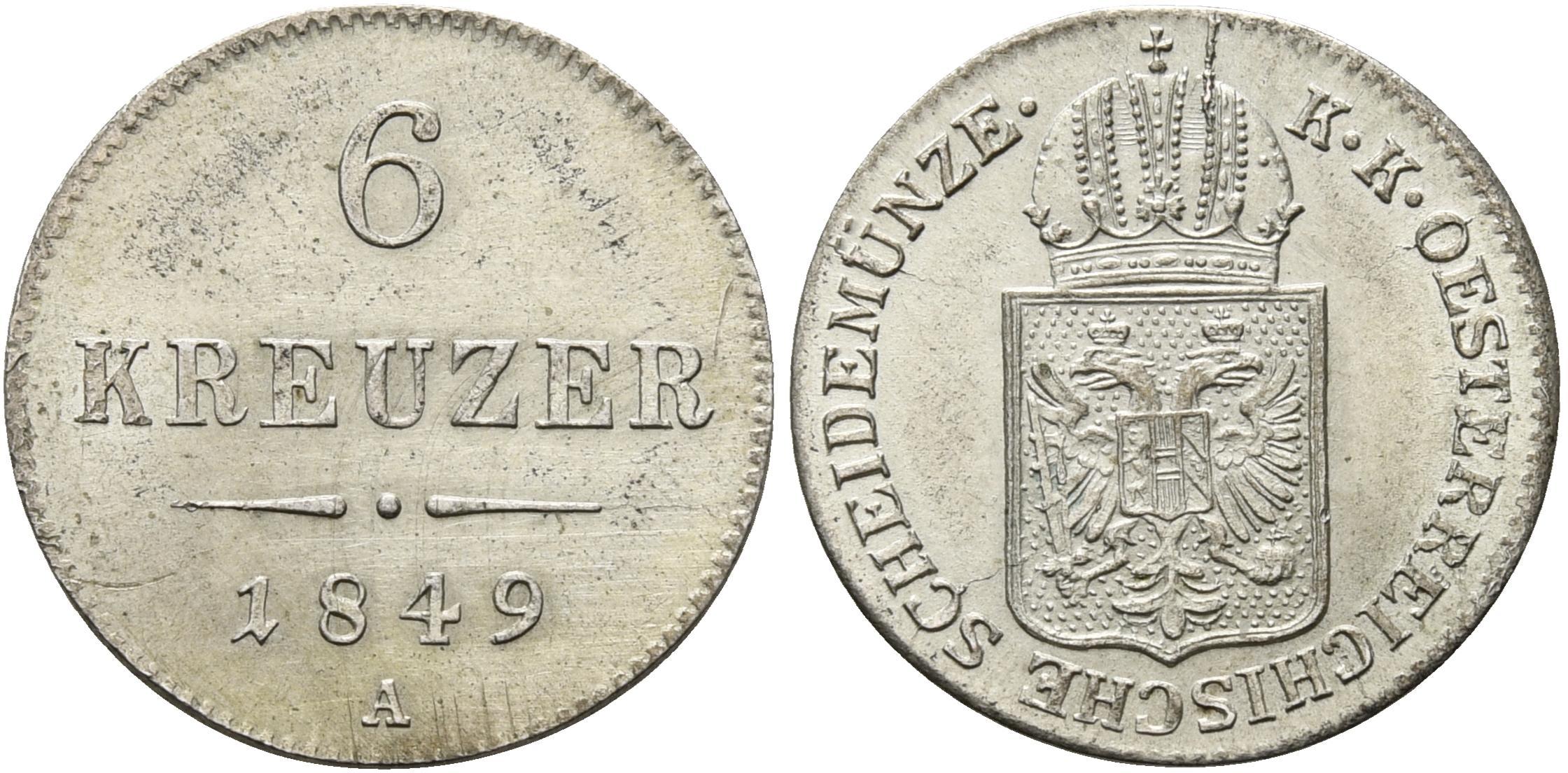 AT 6 Kreuzer 1849 B