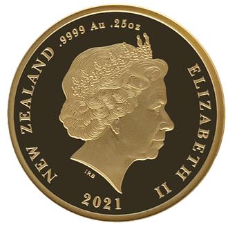 NZ 10 Dollars 2021 Crown above E