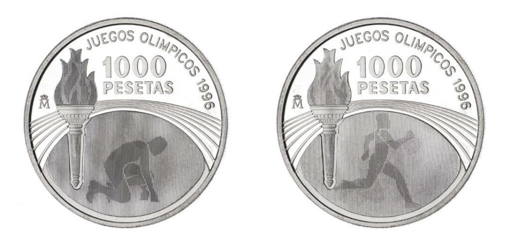 Eine Frage des Blickwinkels: Latentbilder auf Münzen