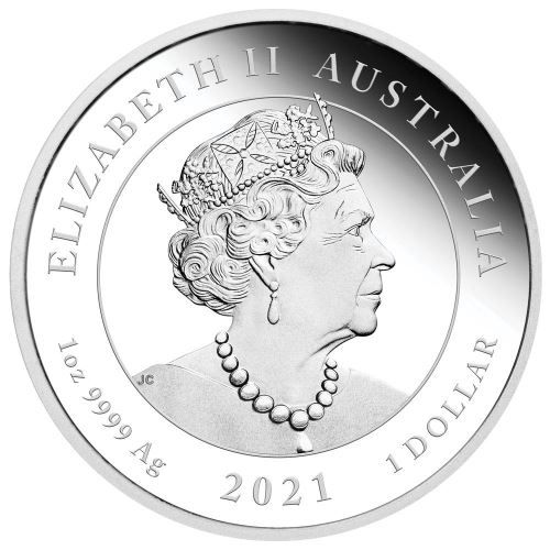 AU 1 Dollar 2021 P